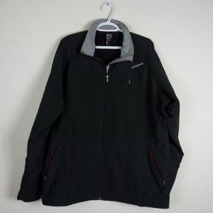 Patagonia Mens Zip Up Black Jacket Logo XL